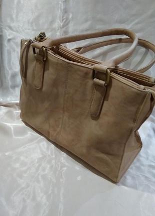 Кожаная сумка gigi средняя ручка сумочка на плечо