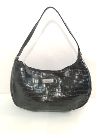 Трендовая кожаная сумка багет osprey london тиснение кроко
