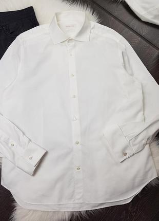 Рубашка хлопковая на запонках с длинным рукавом massimo dutti
