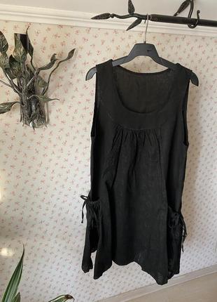 Летнее платье сарафан италия 100% лён