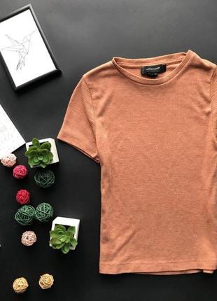 Базовая футболка / укороченный топ / топик в рубчик / лапша/ трикотаж