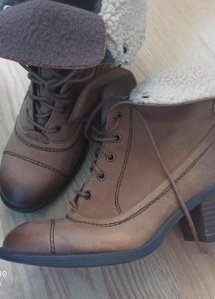 Ботинки/сапоги кожаные clarks оригинал
