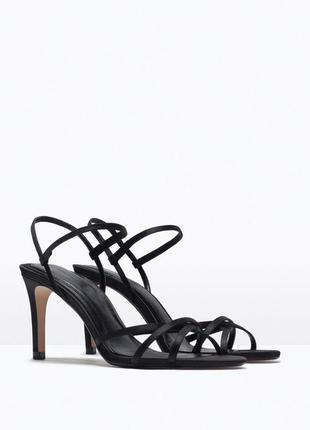 Босоножки zara туфли на высоком каблуке