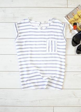 Стильная минималистичная блуза прямого силуэта_вискоза
