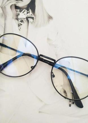 Компьютерные очки в металлической оправе