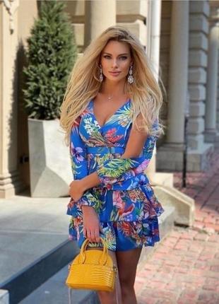 """Платье """"тропики"""" в эксклюзивной ткани"""