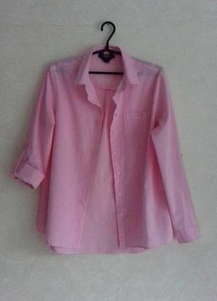 Primark / 100% хлопок удлинённая свободная рубашка / сорочка
