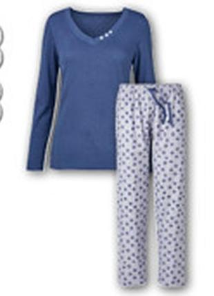 Фланелевая пижама blue motion m 46-48 домашний костюм