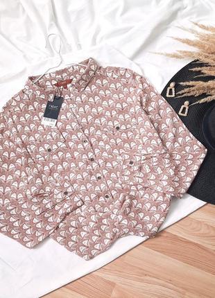 Рубашка из вискозы, блузка принт лисички next