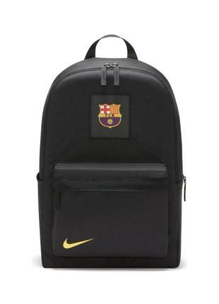 Рюкзак nike fc barcelona stadium backpack dc2431-010 чорний