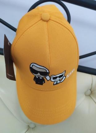Карл karl стильная молодежная жёлтая бейсболка кепка коттон