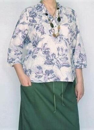 Цветочная льняная блуза ботал / большая распродажа!
