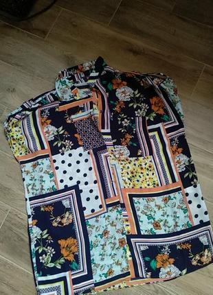 Яркая летняя блуза удаленная размер 48 50