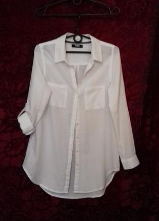 Colloseum / 100% хлопок мягкий длинная свободная рубашка / довга сорочка