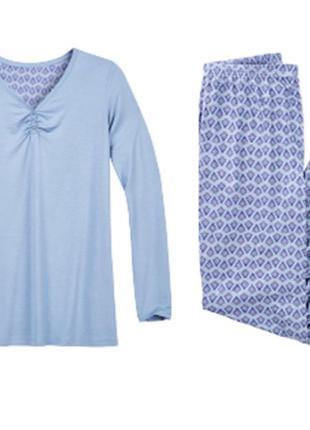 Лёгкий нежный домашний костюм blue motion sm 46-48 трикотажная пижама