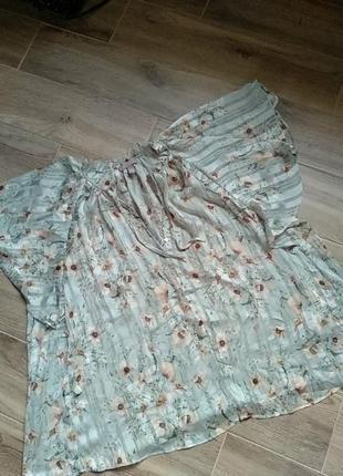 Очень красивая полупрозрачная легкая блуза большой размер 54