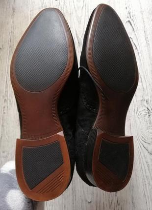 Натуральные замшевые туфли броги оксфорды асос asos5 фото