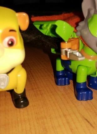 """Фигурки игрушки""""щенячий патруль"""" крепыш и рокки"""