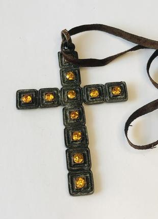 Кулон, винтаж, крест, маркировка