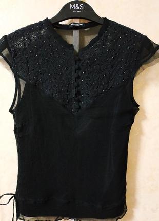 Блуза 100% шелк massimo dutti