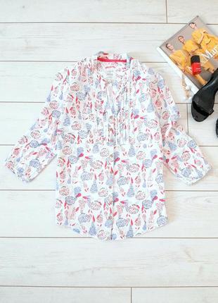Милая летняя хлопковая блуза в нежную расцветку