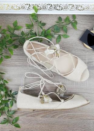 39🌿европа🇪🇺 new look. стильные туфли с актуальной шнуровкой на низком ходу