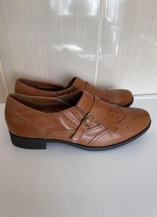 Комфортные кожаные туфли hotter