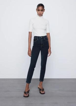 Джинсы zara hi-rise vintage skinny jeans