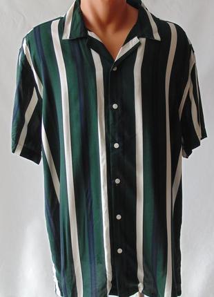 Легкая рубашка гавайка primark хл вискоза