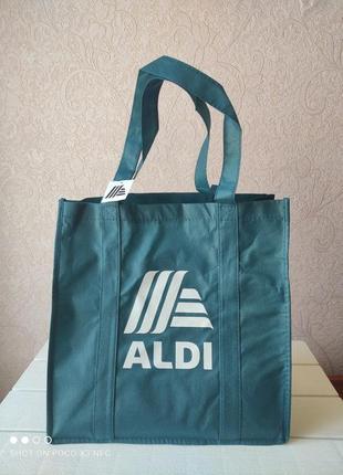 Сумка шоппер, пляжная сумка, для покупок, торба, спанбонд, еко сумка aldi италия