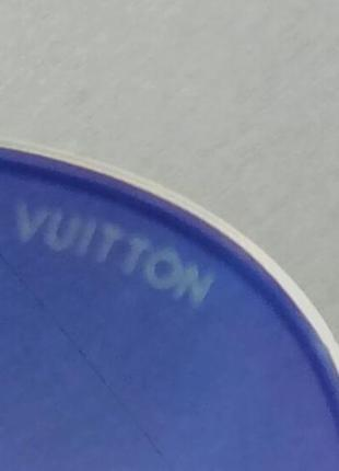 Louis vuitton стильные женские солнцезащитные очки сине фиолетовый градиент в  золотом металле10 фото