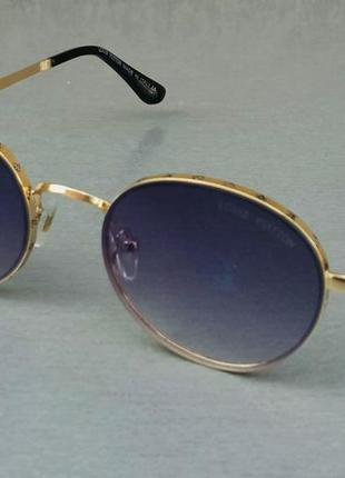 Louis vuitton стильные женские солнцезащитные очки сине фиолетовый градиент в  золотом металле