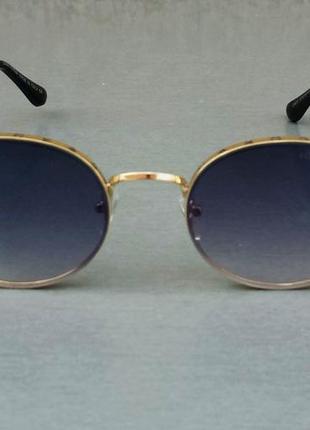 Louis vuitton стильные женские солнцезащитные очки сине фиолетовый градиент в  золотом металле2 фото