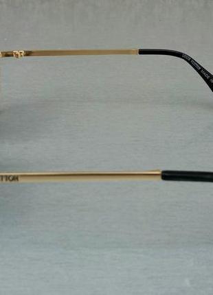 Louis vuitton стильные женские солнцезащитные очки сине фиолетовый градиент в  золотом металле3 фото