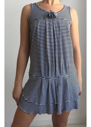 Платье рюш,  плаття полосате, полосатое платье.