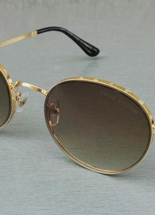 Louis vuitton модные женские солнцезащитные очки коричневый градиент в золотом металле