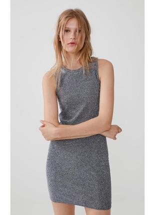 Плаття zara, сукня з металізованим ефектом, блискуча сукня, сукня на вечірку.