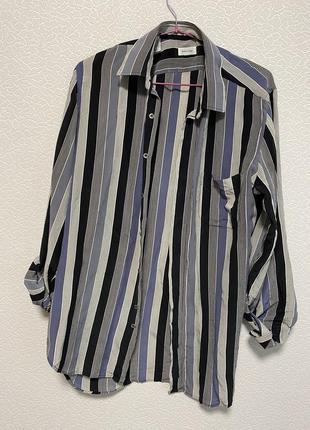Шёлковая рубашка в полоску