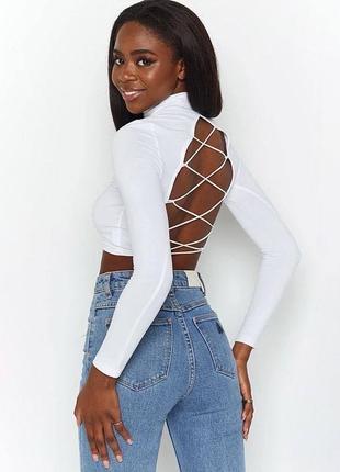 Женский стильный топ на завязках