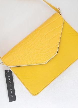 Жёлтая сумочка кроссбоди