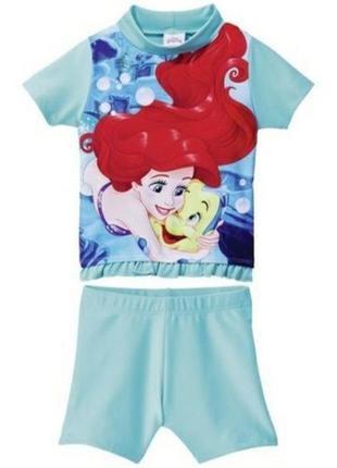 Солнцезащитный пляжный костюм princess от disney р. 74/80 распродажа!