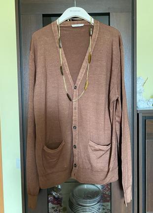 Итальянский шерстяной свитер батал marks & spenser