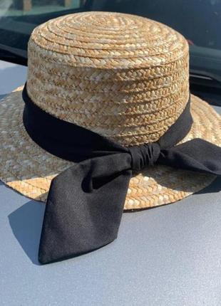 ❤стильные шляпы канотье соломенная