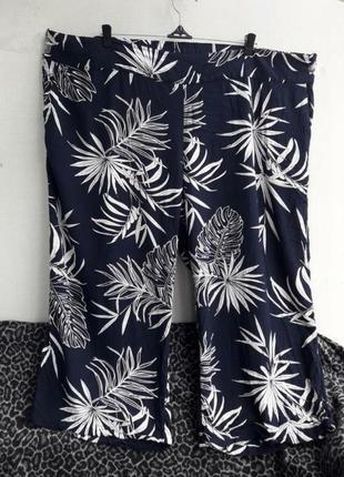 Натуральные вискозные тоненькие брюки батал