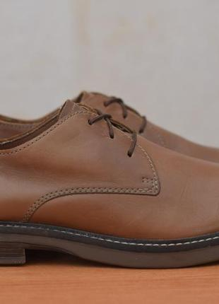 Мужские кожаные коричневые туфли clarks, 42 размер. оригинал