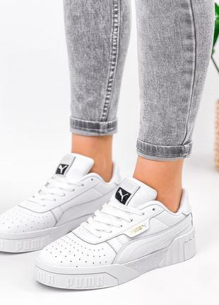 Рр 36-41. белые кожаные кроссовки кеды из натуральной кожи3 фото