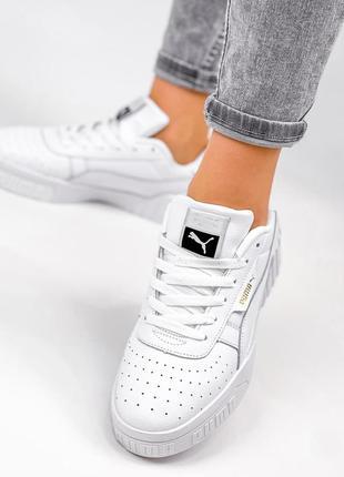 Рр 36-41. белые кожаные кроссовки кеды из натуральной кожи7 фото