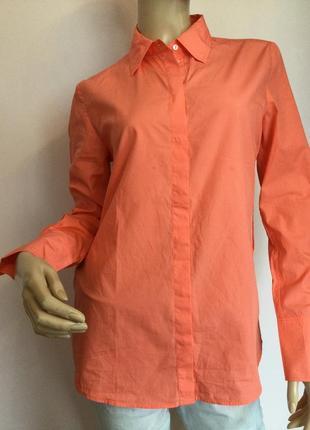Фирменная хлопковая кораловая рубашка /m/ brend marc cain
