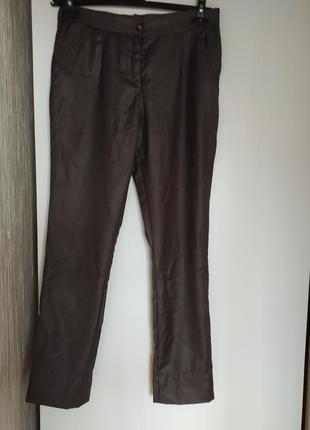 Брюки коричневые из шерсти ,hand made, 44-46