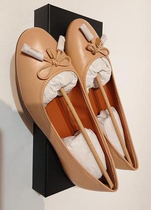 Женские балетки туфли coach us10 40-41 кожа оригинал широка стопа